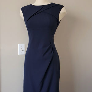 ADRIANNA PAPELL Navy Dress, Sz 8, NWOT